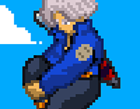 Pixel Art Future Trunks