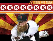 AZ Diamondbacks Strike Out Meter Poster