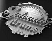 Salvador drum 3d logo for 3D print