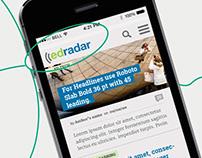 Edradar IA, Responsive Site & Visual Rebranding