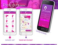 Princess Mobile App design