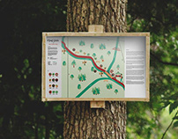 Illustrated Informational Map: Red Cedar State Trail