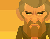 Logan caricature in vector art