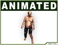 3D Model: Low Poly Fat Zombie