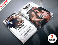 PSD Wedding Photographer Business Card