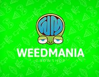 Diseño nueva marca Weedmania GrowShop