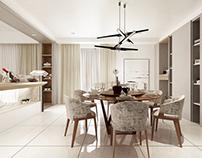 3D Rendering   Residential   Modern Scandinavian Living