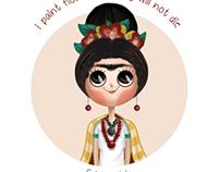 Frida Kahlo digital character