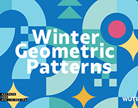 WINTER GEOMETRIC SEAMLESS PATTERNS