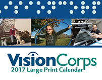 VisionCorps 2017 Large Print Calendar