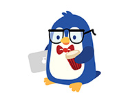 Blue Penguin Sticker Pack