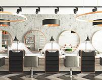 Дизайн интерьера для салона красоты 80 м2