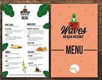 Waves Resort Menu