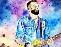 • Watercolor Guitar Player •