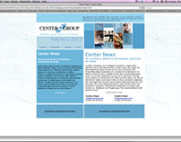 Center Group newsletter layout