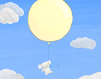Little Floating Elephant - made with Adobe Fresco