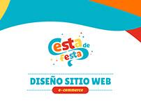 Cesta de festa / Diseño sitio web
