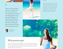 Yoga Club Landing Page Template