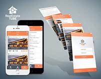 RealEstate TUBE App UI Design