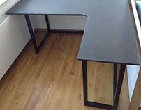 Schreibtisch aus Absolute Black Granit