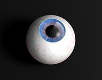 Estudo de Cinema 4D | Olho 3D #3Deye