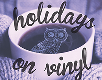 Holidays on Vinyl Night Owls postcard