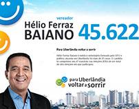 Campanha Política - Vereador Baiano, Uberlândia/MG