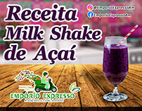 Post - Receita: Milk shake de açaí