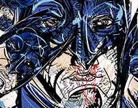 Batman portrait collage