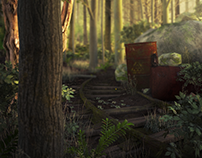 Toxic Forest - 3D Render