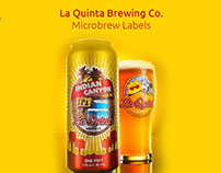 La Quinta Brewing Co. Beer Can & Medallions