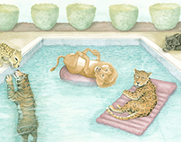 Big Cat Pool Party