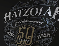 Hatzolah of Williamsburg handlettered logo