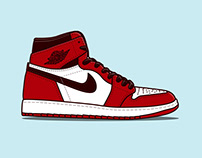 Bold Sneaker Illustrations