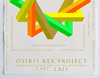 OSIRIS REX PROJECT Dedicated to navigants of the outer