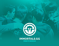 [eSports Redesign] Immortals.GG Website Redesign