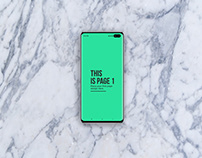 Animated Samsung Galaxy S10+ Mockups