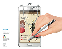 Samsung - Galaxy Note 1 OOH, Press, Digital, Instore
