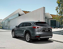 Modern architecture featuring the MAZDA CX-9