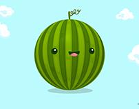 Cute Watermelon-Animation