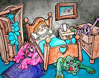 """Ilustración """"Monstruos en mi cuarto"""""""