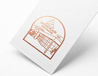 Building Stamp Illustration