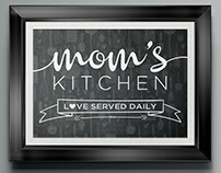 Mom's Kitchen - Poster (for sale)