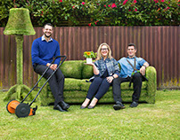 Grass couch retouching