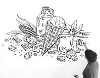 Honeycomb Creamery Mural