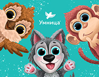 "Characters for children's packaging kits ""Umnitsa"""