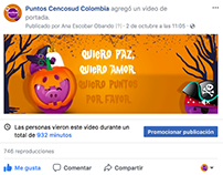 Campaña digital Halloween Puntos Cencosud