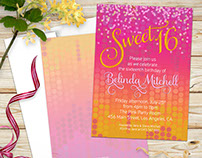Sweet 16 Birthday | Invitation template