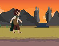 Frodo Baggins Walking Cycle