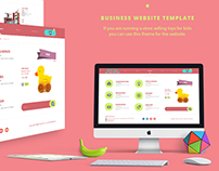 Website Layout Template / baby toys business